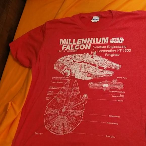 XL Star Wars Millennium Falcon Tee Shirt